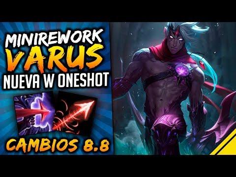 NUEVA W de VARUS para hacer ONESHOT y más CAMBIOS 8.8   Noticias LoL Jota League Of Legends