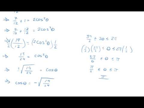 Quiz 7.5 | Chapter 7.2 |  Double Angle Identities to find sin(x), cos(x) and tan(x) | Precalculus 2