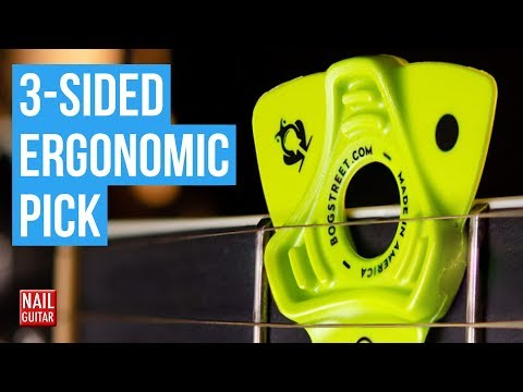 3 Sided Ergonomic Guitar Pick By Bog Street - Demo/Test/Review
