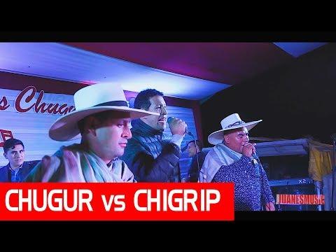UN CHUGURANO vs UN CHIGUIRIPANO / Cantando a Duo / Aniv. Chota 2018 (audio camara)