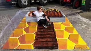 3D street painting BEE by Rianne te Kaat