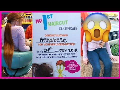 Annabelle's 1st Haircut!