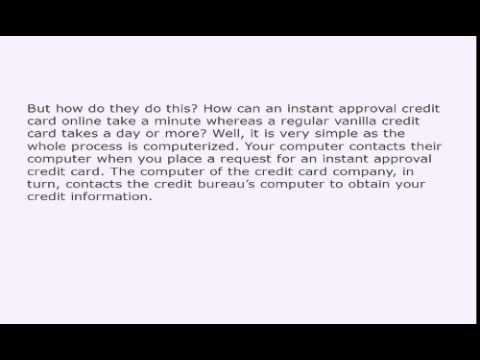 The Inside Story Of Instant Approval Credit Cards 860