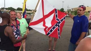 Video shows Alabama black man accepting the Confederate flag.