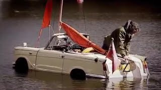 BBC Top Gear   The Car Boat Challenge   Amphibious Cars In A Lake