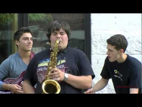 Berklee School Music Students Perform Outside