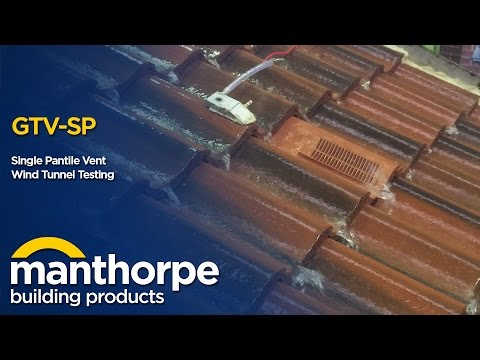 Manthorpe Building Products - Single Pantile Vent - Wind Tunnel Testing