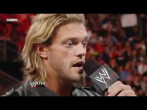 WWE RAW 4/11/11 - Edge Announces Retirement speech Full HD