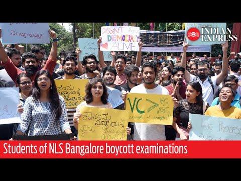 Students of NLS Bangalore boycott examinations