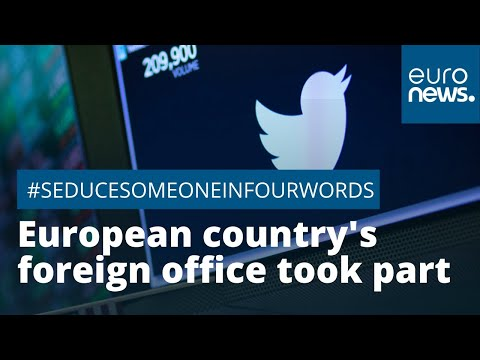 #SeduceSomeoneInFourWords: one European country's foreign office took part but had to apologise