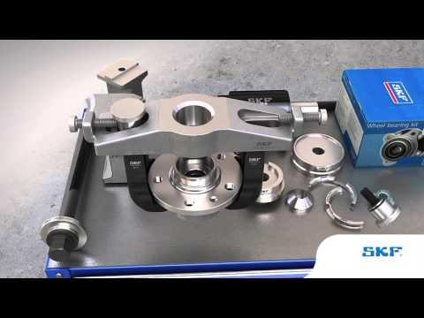 SKF - Jak zamontować i zdemontować piastę koła przy użyciu narzędzi SKF VKN 600, VKN 601 i VKN 602-1