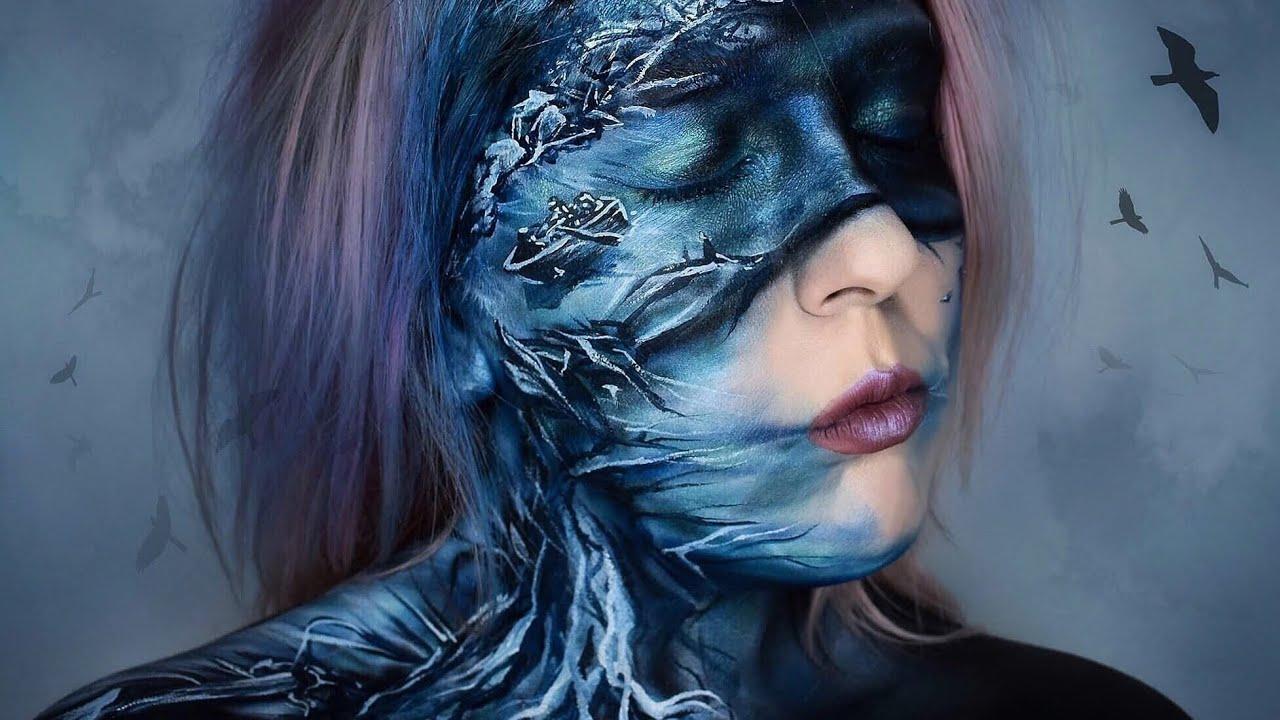 Birdbox Netflix Makeup Face Paint Body Paint Youtube