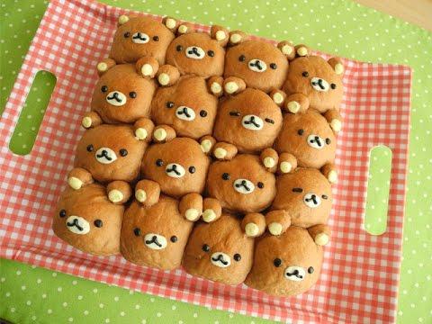 リラックマちぎりパンの作り方 Rilakkuma Pull Apart Bread Youtube