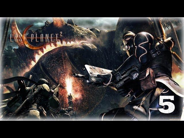 Смотреть прохождение игры [Coop] Lost Planet 2. Серия 5 - Большому монстру - большая пушка.