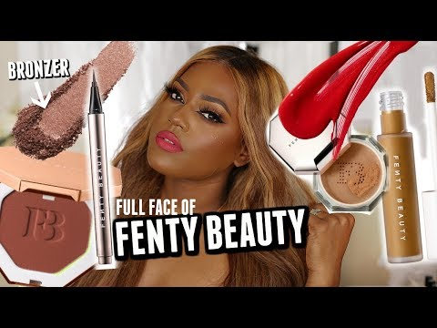 fenty-beauty-full-face-w/-mocha-mami-bronzer,-420-foundation,-lipstick-&-concealer!