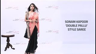 How to Wear Sonam Kapoor Double Pallu Style Saree | Double Pallu Saree Draping
