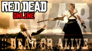 The First LEGENDARY Bounty Hunt! Barbarella Alcazar! Red Dead Online Frontier Pursuits Update