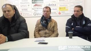 Pressekonferenz - FSV Optik Rathenow gegen 1. FC Magdeburg 0:3 (0:1) - www.sportfotos-md.de