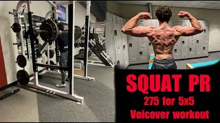 SQUAT PR | Stronglifts 5x5 | Voiceover