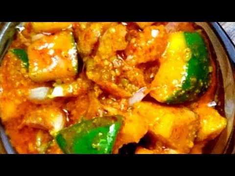 Mango pickle in North Karnataka style/padma aunty's recipe/ mavinakai uppinakai/raw mango pickle thumbnail