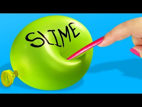 Making slime with EXTREME long nails