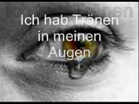 Tränen in Deinen Augen