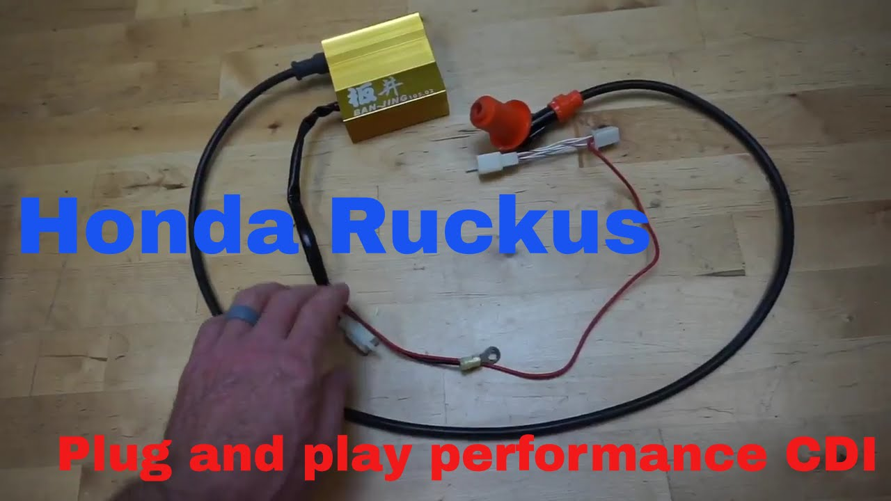 hight resolution of honda ruckus plug play microprocessor performance cdi coil combo