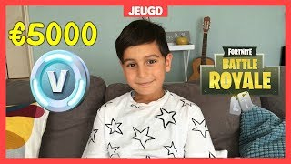 Tugra (8) has €5000 to Fortnite V-Bucks debts 😱!