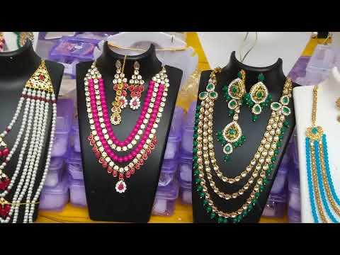 wholesale jewellery market shopping vlog / Pearl jewellery h