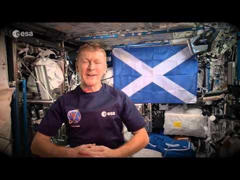 Tim Peake's Happy Hogmanay from space