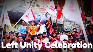 Final Announcement of wining JNUSU Election by left Unity for Central Panel.