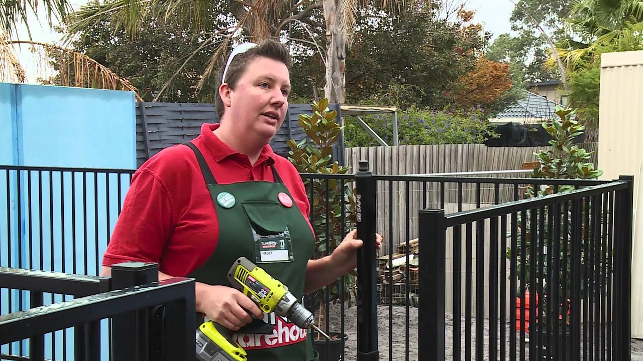 How To Install Aluminium Pool Fencing Diy At Bunnings Youtube