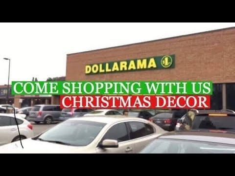 COME SHOPPING WITH US CHRISTMAS DECOR VLOG