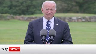Joe Biden says the 'special relationship' with the UK has been affirmed