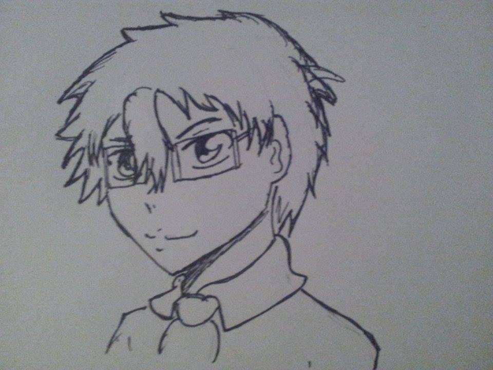 Line Drawing Boy : Broken line twitter