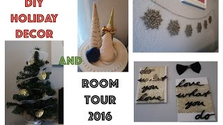 AFFORDABLE DIY HOLIDAY DECOR and a ROOM TOUR 2016
