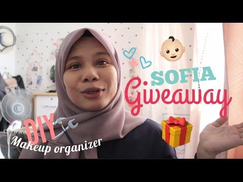 DIY Makeup Organizer || Sofia Nak Buat Giveaway!!