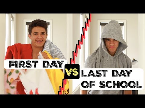 FIRST DAY VS LAST DAY OF SCHOOL! | Brent Rivera