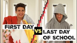 FIRST DAY VS LAST DAY OF SCHOOL! | Brent Rivera