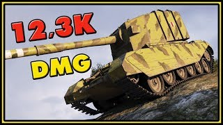 FV4005 Stage II - 12,3K Damage - World of Tanks Gameplay