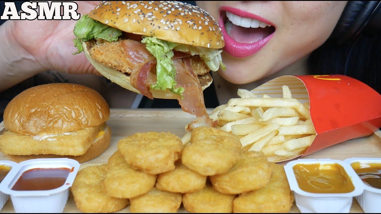 Sas Asmr Mcdonalds : Asmr mcdonalds big mac chicken nuggets fries🍔🍟eating sounds mukbang.