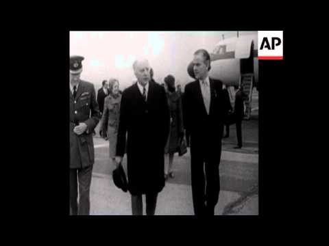 SYND04/02/71 WALTER SCHEEL ARRIVES IN LONDON FOR AN OFFICIAL VISIT