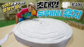 Use Giant Toilet Paper for 10 years continuously !!!