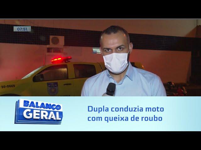 Suspeitos na cadeia: Dupla conduzia moto com queixa de roubo para assaltar no Vergel