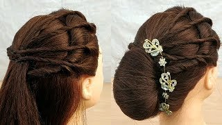 New Amazing wedding hairstyle with Easy Trick:party hairstyle \function hairstyle