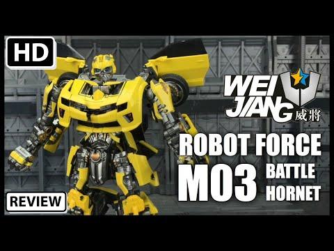 Wei Jiang Robot Force M03 Battle Hornet KO Transformers ROTF Battle Blades Bumblebee