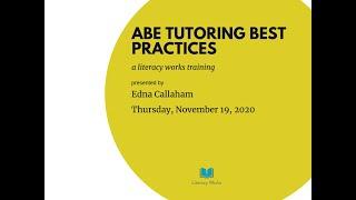 ABE Tutoring Best Practices