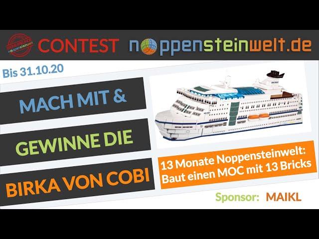 Mach am 13 Monat Contest der Noppensteinwelt.de mit, baue mit 13 Bricks & gewinne die Birka von Cobi