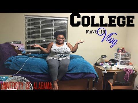 COLLEGE MOVE IN DAY VLOG - Freshman year | UA 2016 || Allana Mariie
