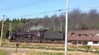 蒸気機関車C61形 SLあきたこまち号 その2(大仙市北楢岡付近)